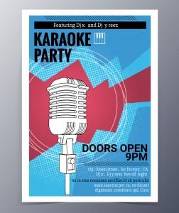 plakat karaoke